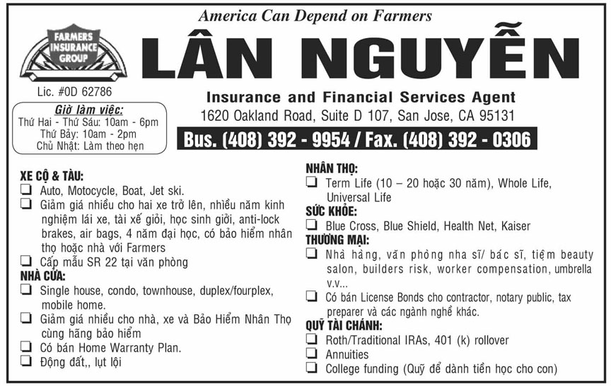 Lan Nguyen/Farmers Insurance